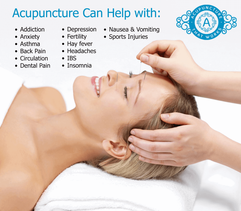 What can acupuncture help with
