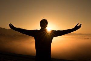 Man Embracing the Sunset