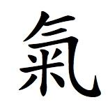 Qi or chi Chinese character